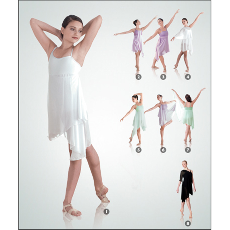 Lyric lyrical dance dresses : Convertible Asymmetrical Dance Dress by Body Wrappers : 7895, On ...